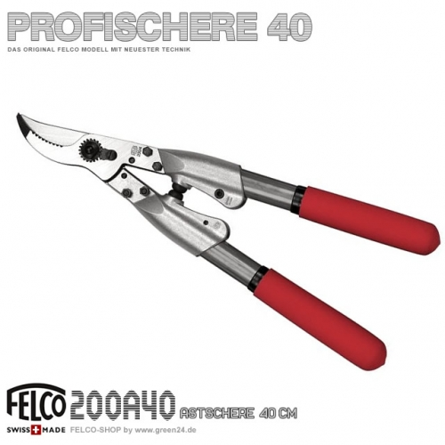 FELCO 200 Profi Astschere 40cm Aluminium