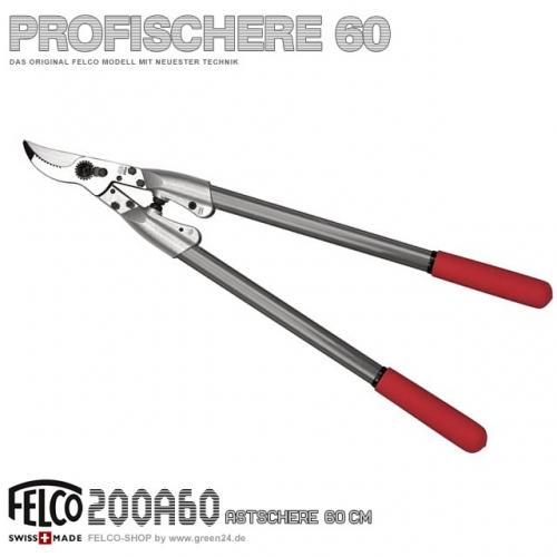 FELCO 200 Profi Astschere 60cm Aluminium
