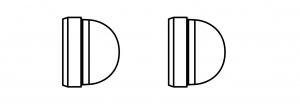 Felco 220/93 Satz mit 2 Stoßdämpfern
