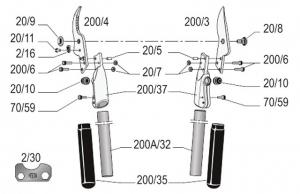 FELCO 200 Profi Astschere 50cm Aluminium