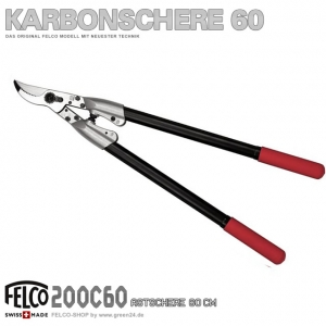 FELCO 200 HighTech Astschere 60cm Karbon